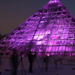 Just Three: Pyramids of Light