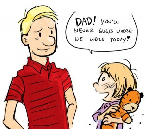 Calvin as a Dad? (Artist Unknown...)